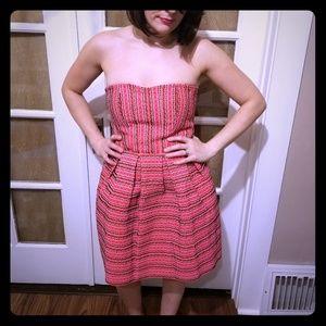 Aina Be Strapless Pattern Mini Dress sz Small